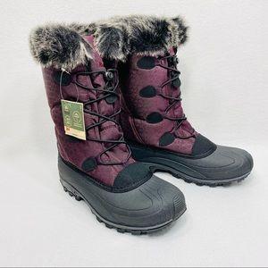 Kamik Momentum Snow Boot Burgundy w/Faux Fur Lining Waterproof - 9M - NIB